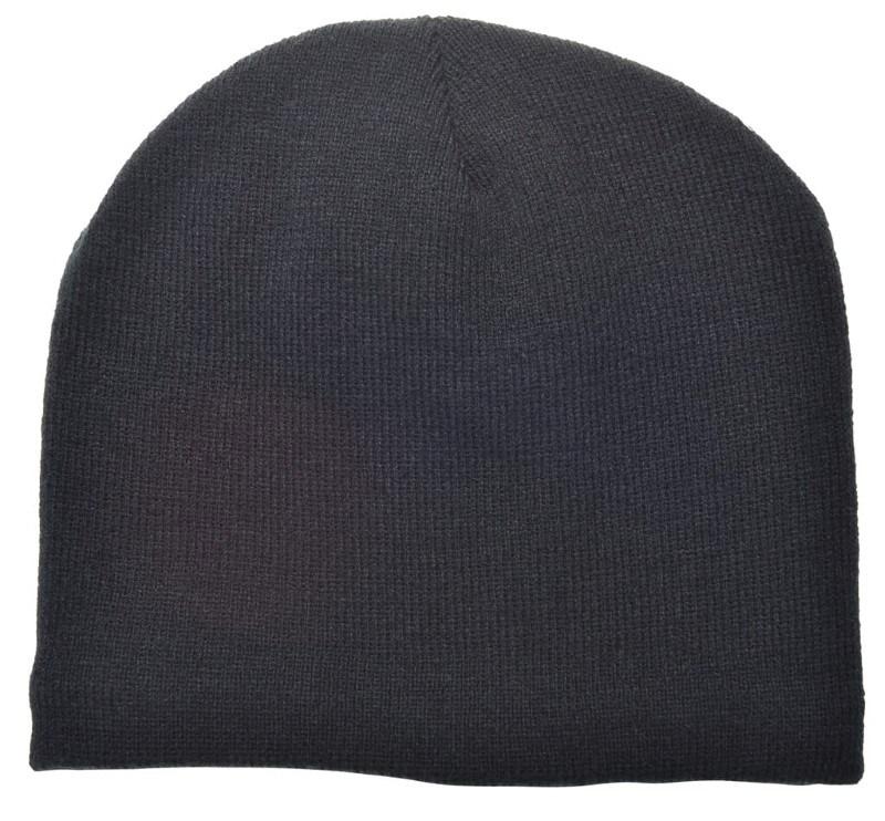 Gebreide Wintermuts fleece gevoerd Zwart acc Zwart