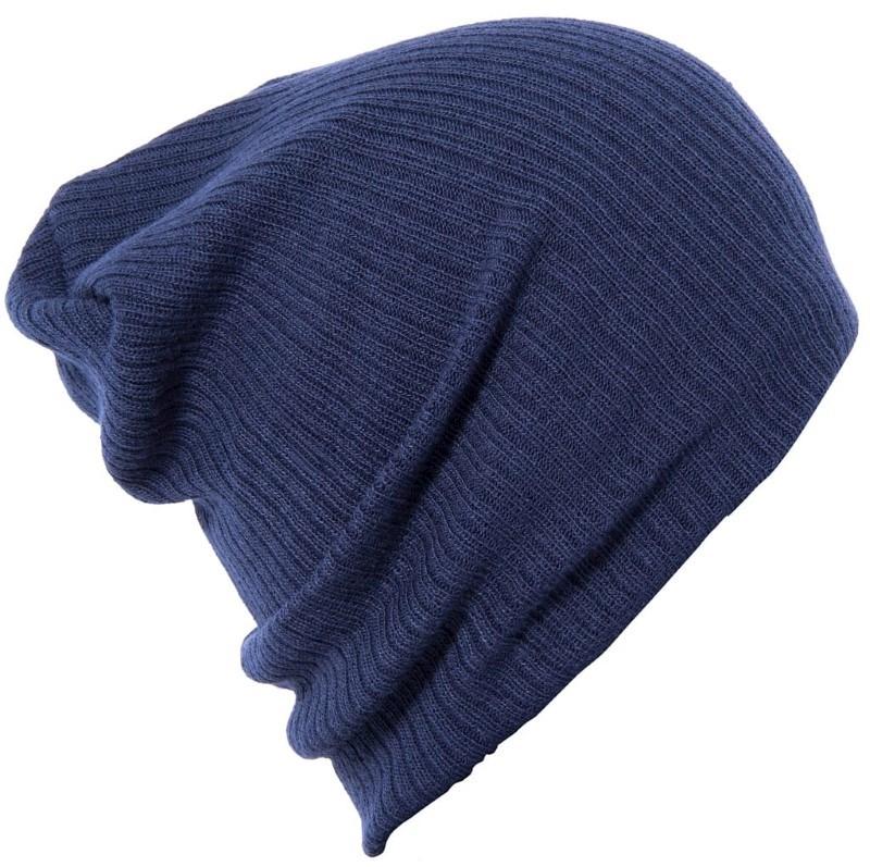 Slouch Beanie Marineblauw