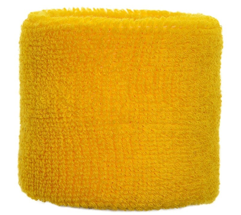 Polsband 6cm Geel acc. Geel
