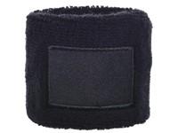 Polsband 6cm Met Label Zwart acc. Zwart