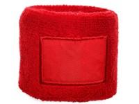 Polsband 6cm Met Label Rood acc. Rood
