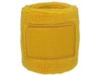 Polsband 6cm Met Label Geel acc. Geel