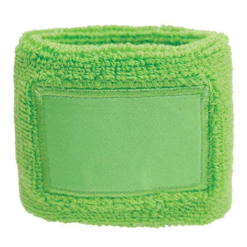 Polsband 6cm Met Label Groen acc. Groen