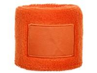 Polsband 6cm Met Label Oranje acc. Oranje