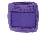 Polsband 6cm Met Label Purple acc. Purple