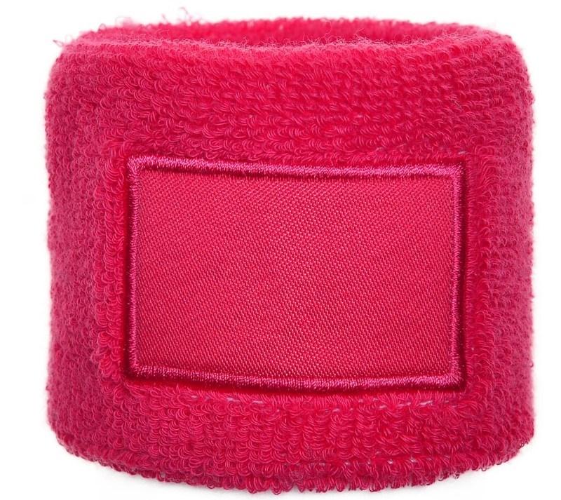 Polsband 6cm Met Label Roze acc. Roze