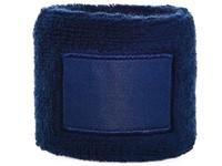 Polsband 6cm Met Label Navy acc. Navy