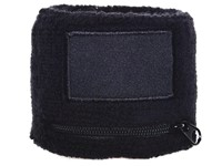 Polsbandje Met Rits 6cm Met Label Zwart acc. Zwart
