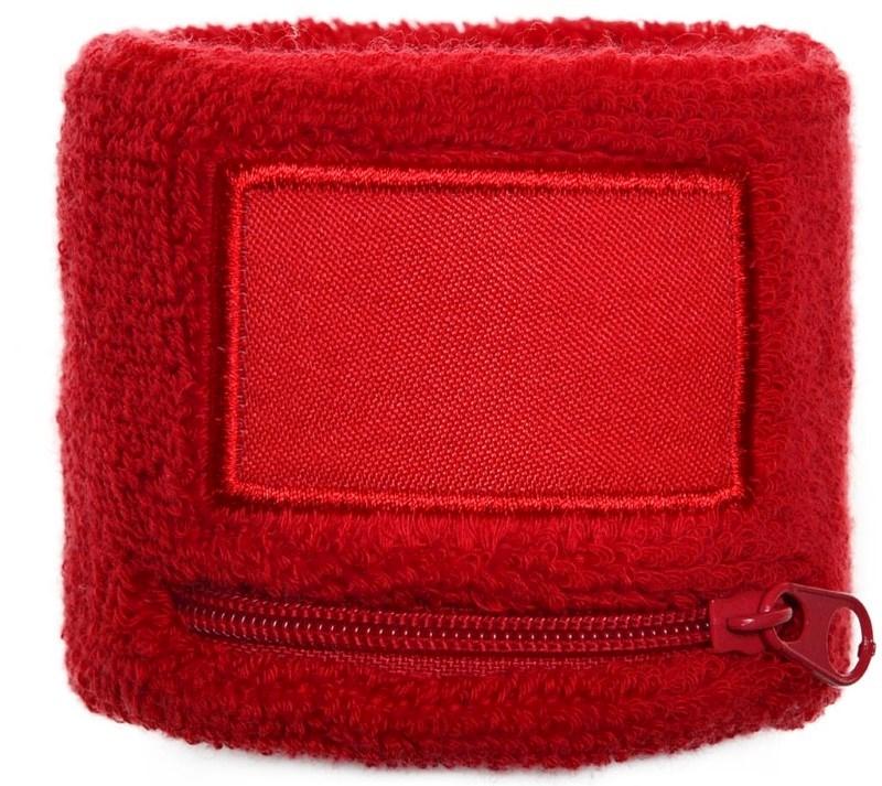Polsbandje Met Rits 6cm Met Label Rood acc. Rood