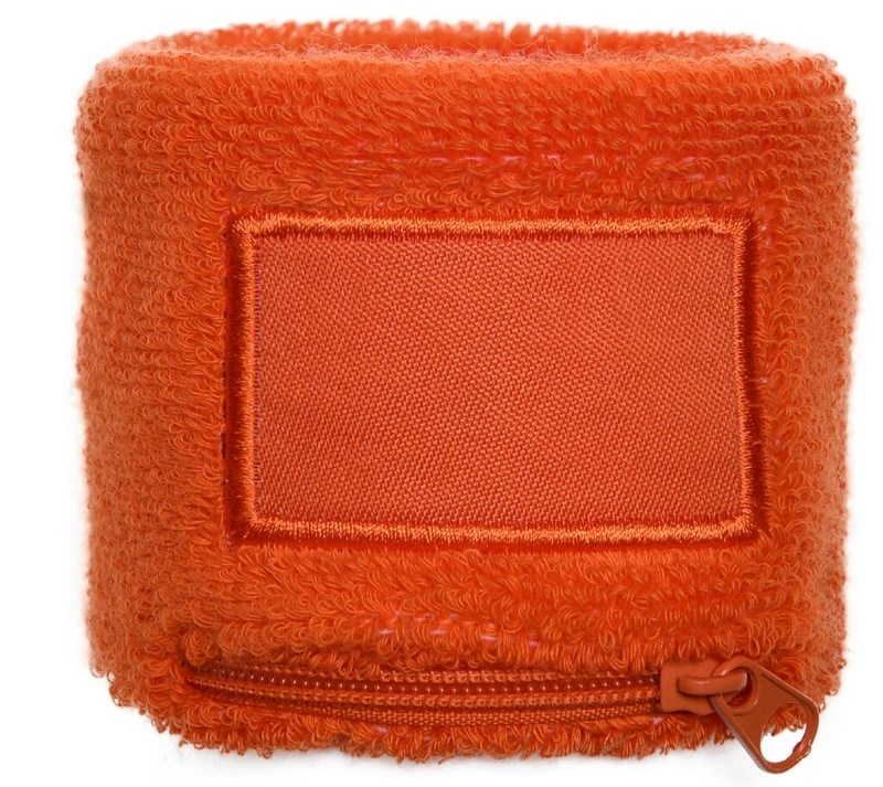 Polsbandje Met Rits 6cm Met Label Oranje acc. Oranje