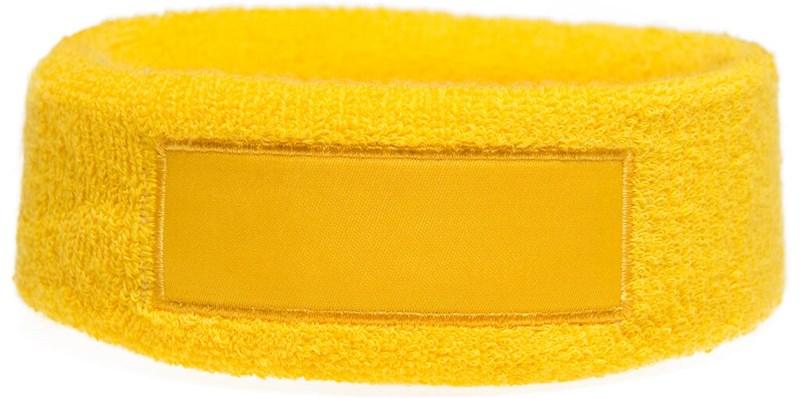 Hoofdband 18cm Met Label 9*3 cm Geel acc. Geel
