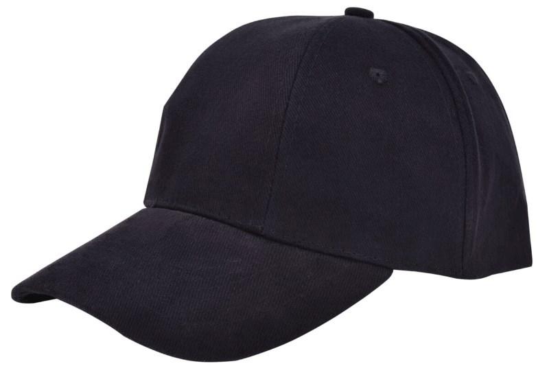Turned Brushed Cap Zwart acc. Zwart