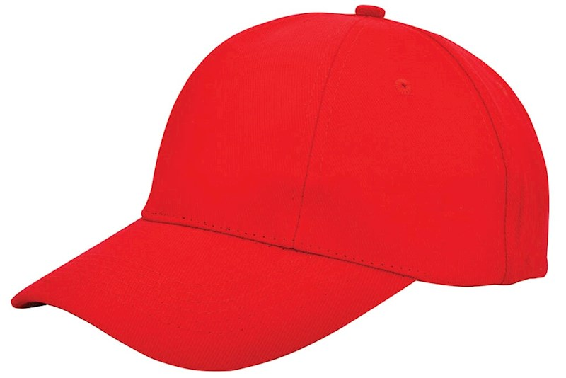 Turned Brushed Cap Rood acc. Rood