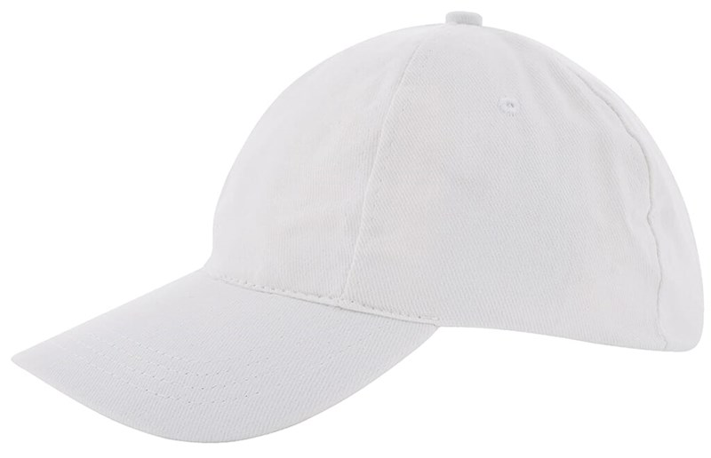 Kinder Brushed Promo Cap Wit acc. Wit