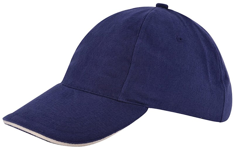 Kinder Brushed Promo Cap Navy acc. Naturel