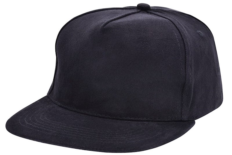 Brushed Honkbal Cap Zwart acc. Zwart