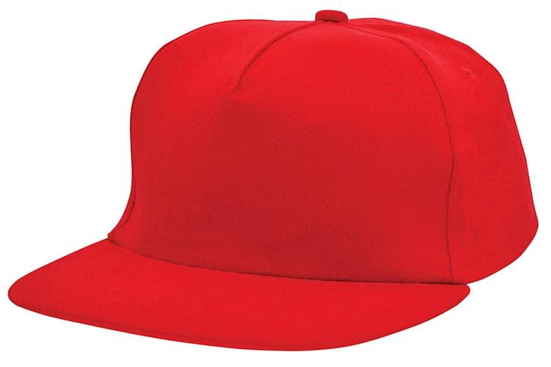 Brushed Honkbal Cap Rood acc. Rood
