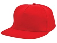 Brushed Honkbal Cap Rood acc. Rood