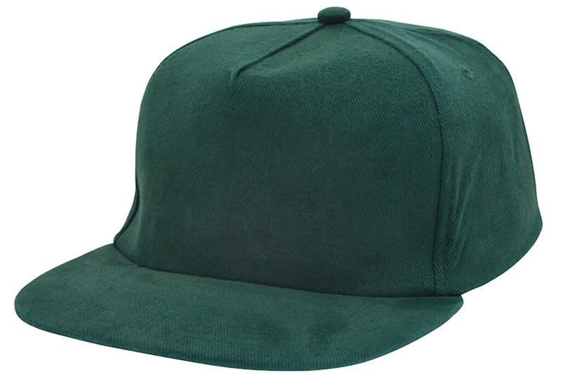 Brushed Honkbal Cap Bottle Green acc. Bottle Green