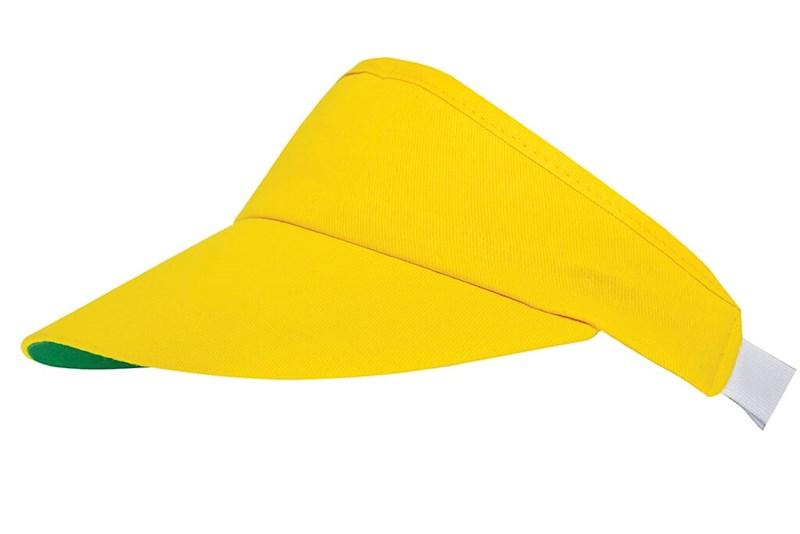 Zonneklep Geel met groene onderkant