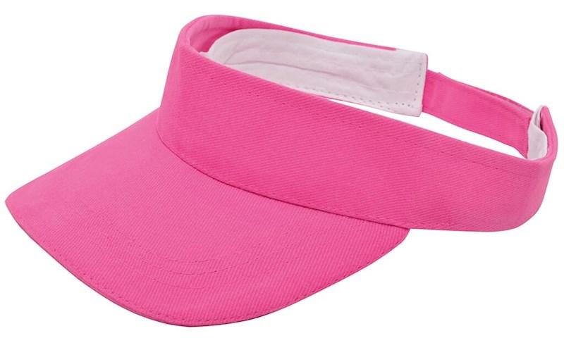 Brushed Zonneklep Roze acc. Roze