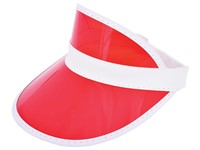 Zonneklep met PVC Scherm Wit acc. Rood