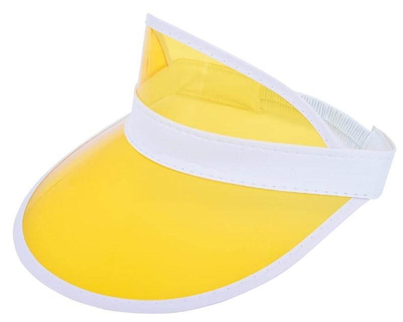 Zonneklep met PVC Scherm Wit acc. Geel