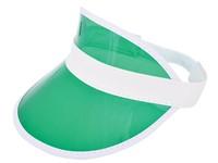Zonneklep met PVC Scherm Wit acc. Groen