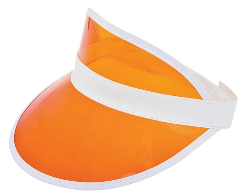 Zonneklep met PVC Scherm Wit acc. Oranje