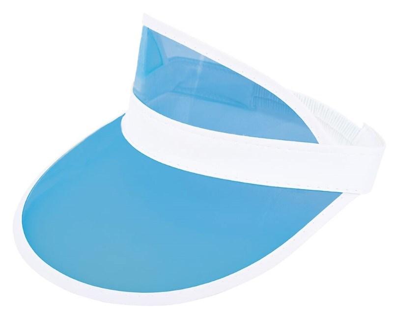 Zonneklep met PVC Scherm Wit acc. Lichtblauw