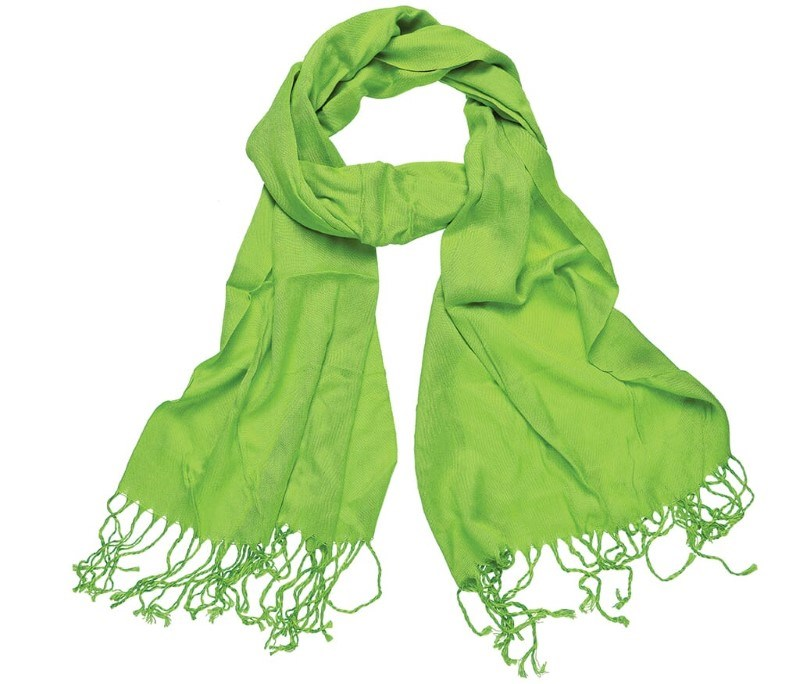 Pashmina Sjaal 180*40cm Groen acc. Groen