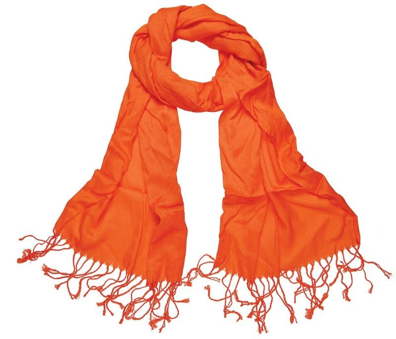 Pashmina Sjaal 180*40cm Oranje acc. Oranje