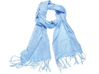 Pashmina Sjaal 180*40cm Lichtblauw acc. Lichtblauw