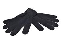 Retro Gebreide Handschoenen met Label Zwart acc. Zwart