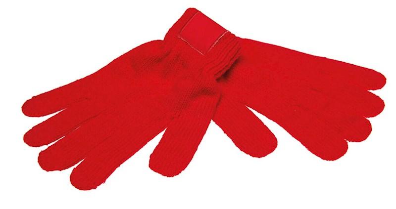 Retro Gebreide Handschoenen met Label Rood acc. Ro