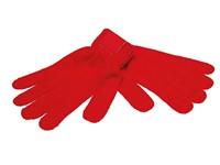 Retro Gebreide Handschoenen met Label Rood acc. Rood