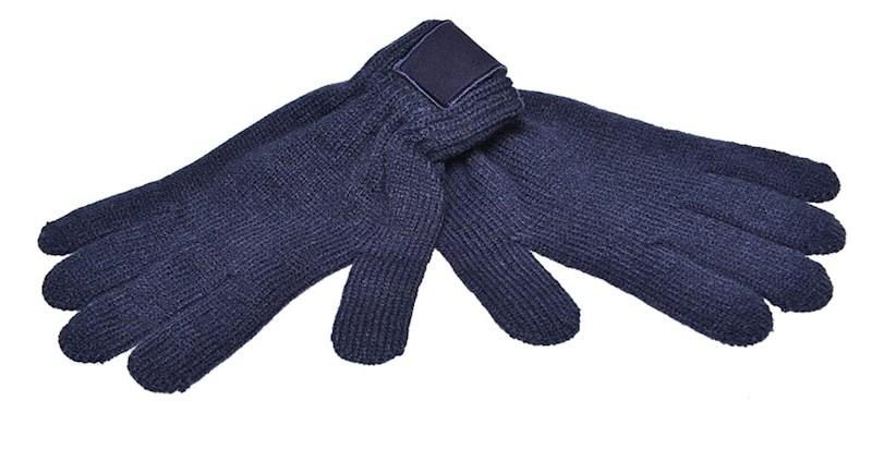 Retro Gebreide Handschoenen met Label Navy acc. Na