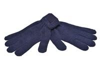 Retro Gebreide Handschoenen met Label Navy acc. Navy