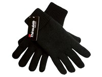 Gebreide Thinsulate Handschoenen Zwart M_L