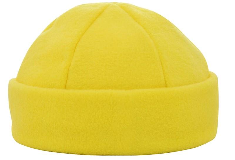 6 Panelen Fleece Muts 280 gr/m2 Geel acc. Geel