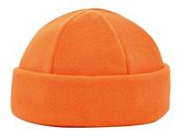 6 Panelen Fleece Muts 280 gr/m2 Oranje acc. Oranje