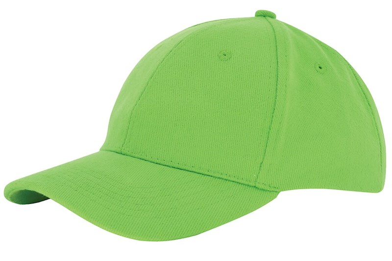 Heavy Brushed Cap Groen acc. Groen