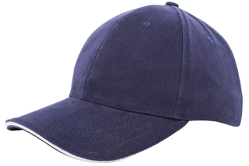Heavy Brushed Cap Navy acc. Wit