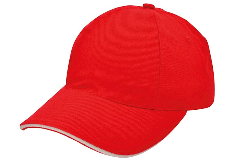 Brushed Promo Cap Rood acc. Naturel