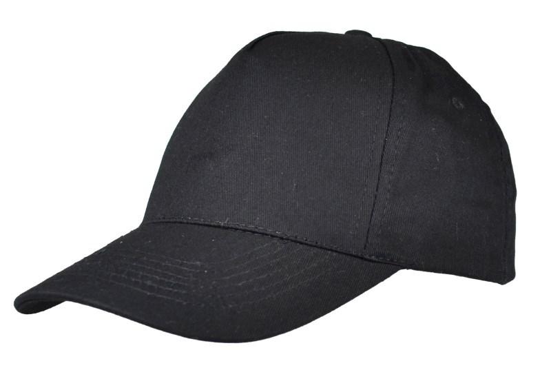 5 panel cap - zwart