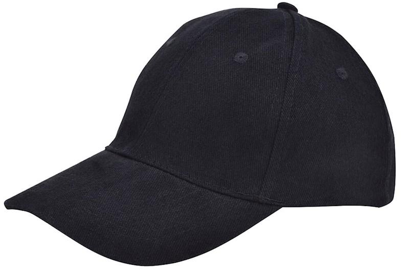 Brushed Twill Cap Zwart acc. Zwart