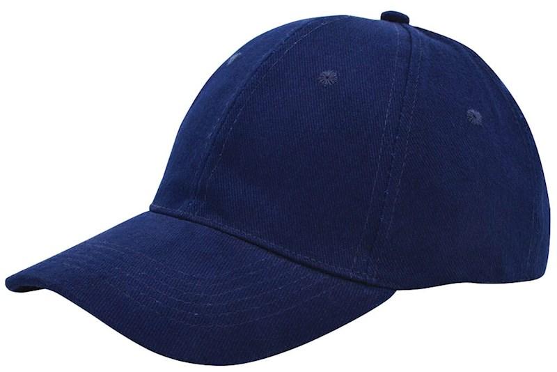 Brushed Twill Cap Marineblauw acc. Marineblauw