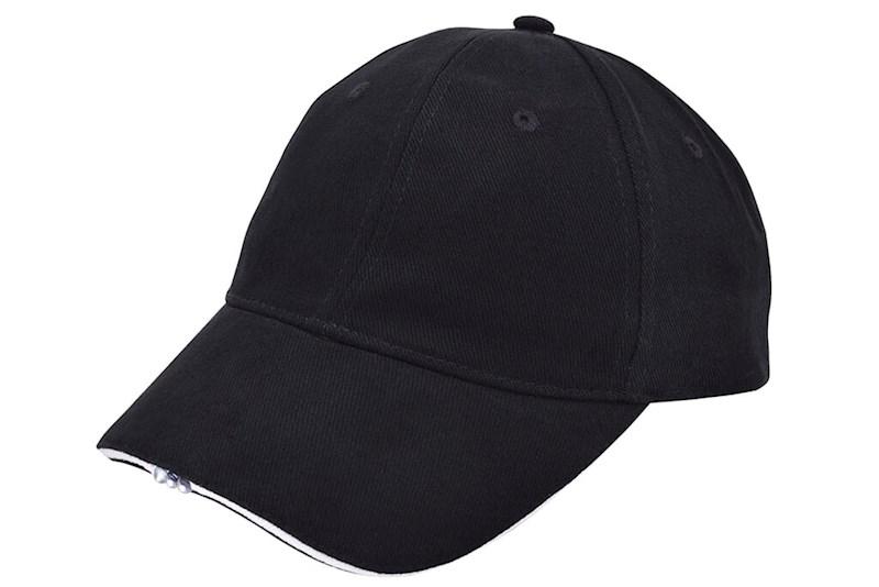 Heavy Brushed Cap met Ledverlichting Zwart acc. Wi
