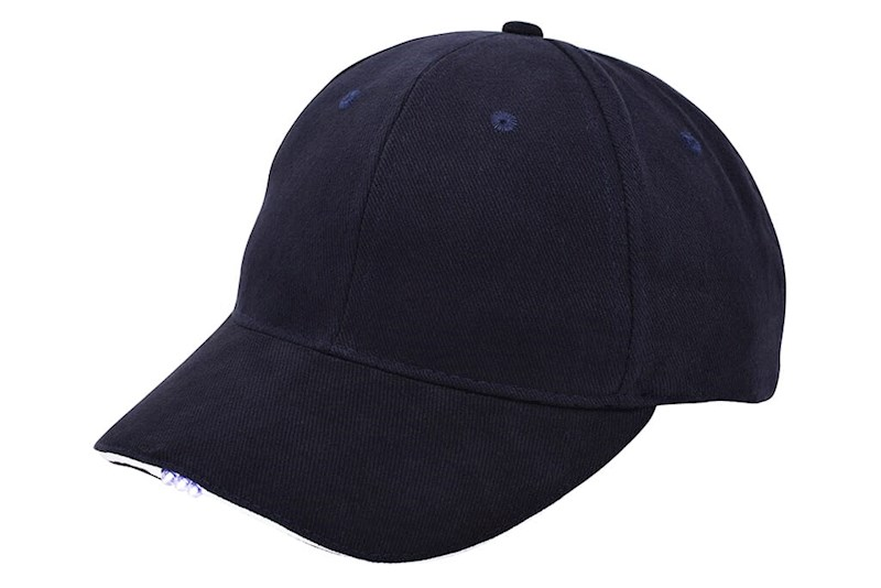 Heavy Brushed Cap met Ledverlichting Navy acc. Wit