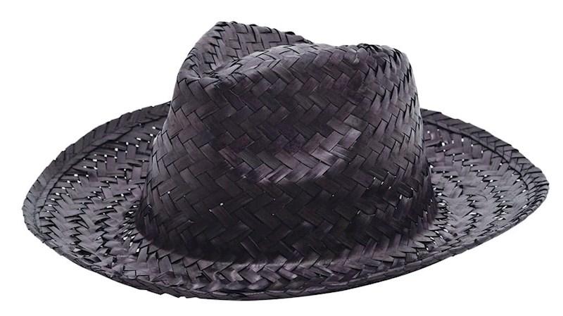 Promo Strohoed Zwart acc. Zwart